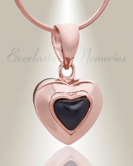Rose Gold Fallen Heart Cremation Jewelry
