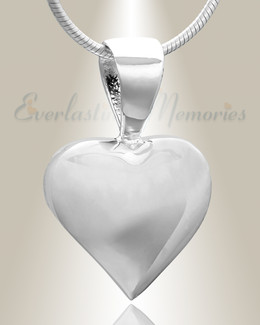 Silver Caring Heart Cremation Jewelry