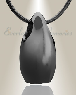 Black Simple Tear Cremation Jewelry