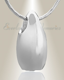 Silver Simple Tear Cremation Jewelry