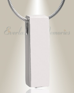 Silver Elegance Cylinder Cremation Jewelry