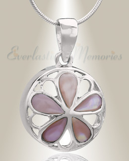 Silver Blooms Cremation Jewelry