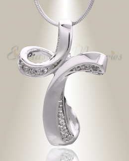 Silver Forever Cross Cremation Jewelry