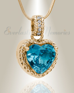 Gold Plated Sea of Hearts Cremation Jewelry