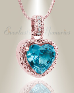 Rose Gold Sea of Hearts Cremation Jewelry