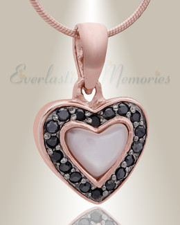 Rose Gold Longing Cremation Jewelry