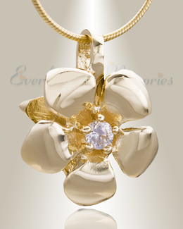 Gold Plated Daisy Cremation Jewelry