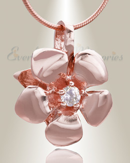 Rose Gold Daisy Cremation Jewelry