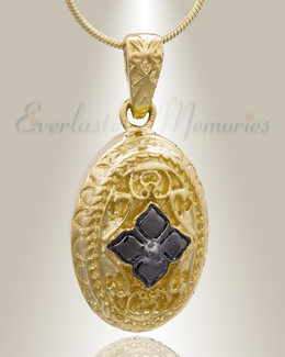 Gold Plated Eternal Round Cremation Jewelry
