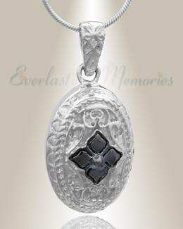 Silver Eternal Round Cremation Jewelry