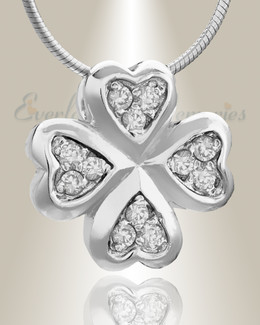 Silver Clovers Cremation Jewelry