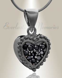 Black Merry Heart Cremation Jewelry