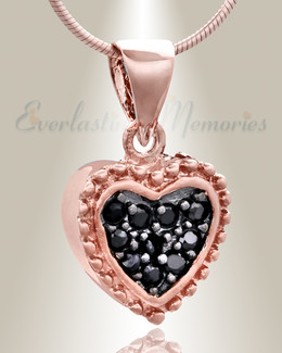 Rose Gold Merry Heart Cremation Jewelry