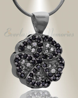Black Pansy Cremation Jewelry