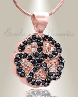 Rose Gold Pansy Cremation Jewelry