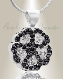 Silver Pansy Cremation Jewelry