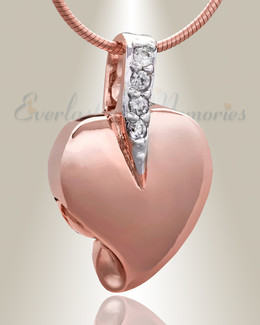 Rose Gold Heavenly Heart Cremation Jewelry