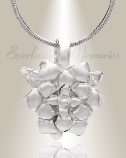 Silver Roses Cremation Jewelry