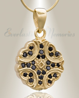 Gold Plated Celestial Cremation Jewelry