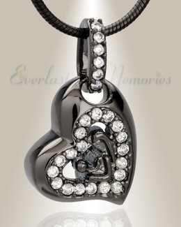 Black Cherish Cremation Jewelry