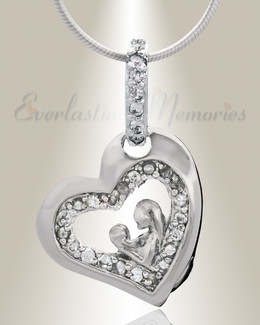 Silver Cherish Cremation Jewelry