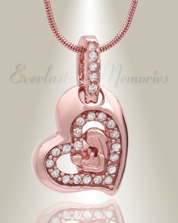 Rose Gold Cherish Cremation Jewelry