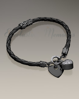 Black Forever Bracelet Cremation Jewelry