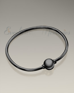 Black Codder Bracelet Cremation Jewelry