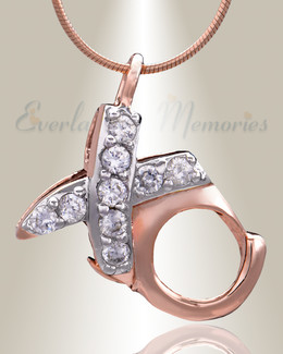 Rose Gold XO Cremation Jewelry