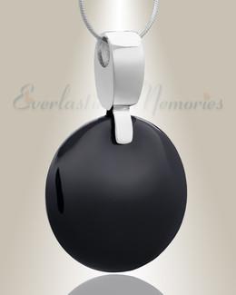 Black Harvest Moon Cremation Jewelry