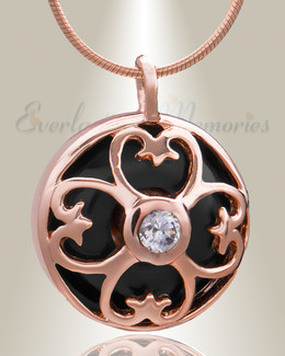 Rose Gold Gentle Night Cremation Jewelry
