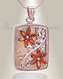 Rose Gold In Bloom Cremation Jewelry