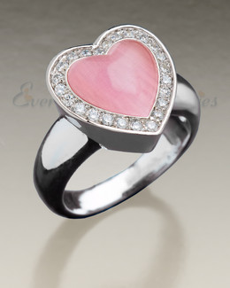 Women's Silver Big Love Cremation Ring