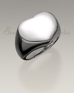 Women's Silver Cherished Cremation Ring