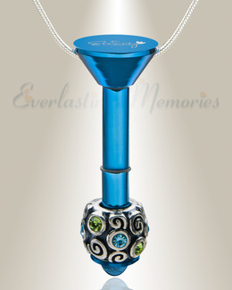Blue Plated Millenium Ash Pendant with Jubilee Charm