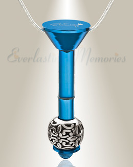 Blue Plated Millenium Ash Pendant with Embellished Charm