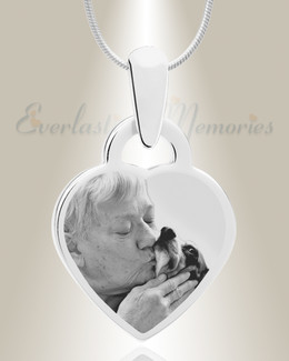 Small Heart Photo Engraved Stainless Pet Keepsake