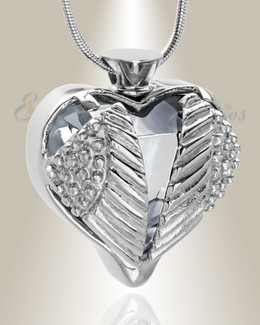 Stainless Clear Eternal Flight Cremation Jewelry
