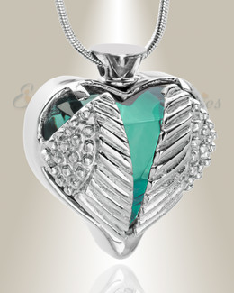 Stainless Turquoise Eternal Flight Cremation Jewelry