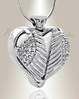 Stainless White Eternal Flight Cremation Jewelry