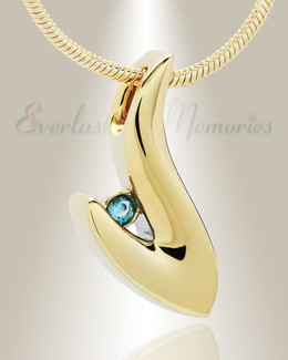 Gold Plated Solitary Memorial Jewelry