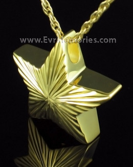 Gold Plated Starlight Cremation Keepsake
