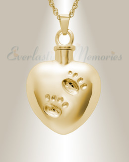 14k Gold Remember Me Heart Cremation Jewelry