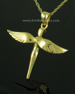 Gold Plated Sparrow Funeral Jewelry