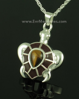 Sterling Silver Amber Turtle Locket Jewelry