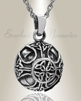 Sterling Silver Celtic Round Cremation Locket