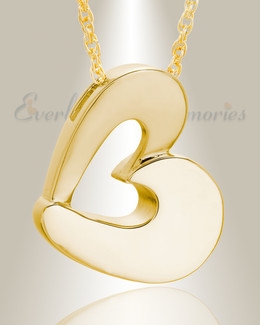 14k Gold Fashion Heart Cremation Jewelry