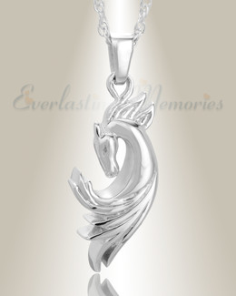 Sterling Silver Stallion Memorial Jewelry