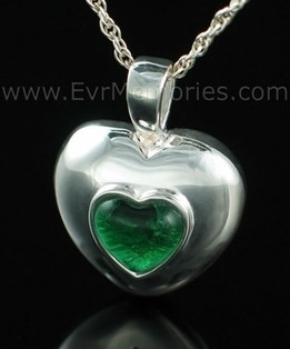 Sterling Silver May Heart Memorial Locket
