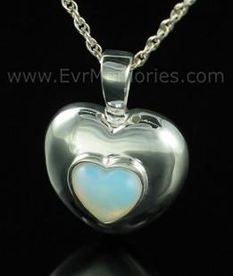 Sterling Silver June Heart Urn Keepsake